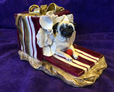 Eve Pearce Hand-Made Model - Pug in a Gift Box * SALE *